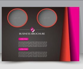 Color difference contrast business brochure vector