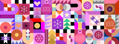 Color different patterns vector