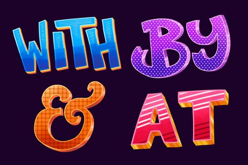 Color lettering vector