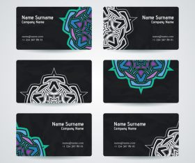 Color pattern company business card vector