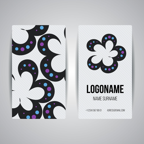Color printing style company business card vector
