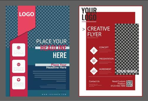 Colorful background cover flyer vector