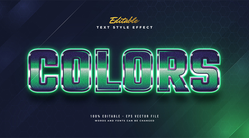 Colors editable font 3d vector