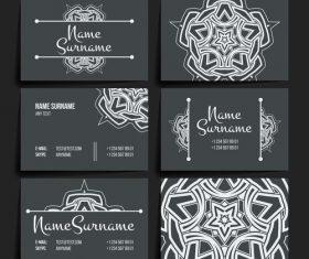Company black business card vector