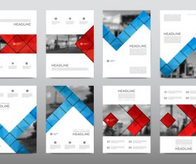 Concise business brochure flyer vector