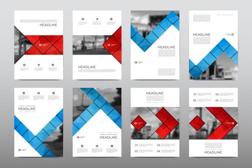 Concise business brochure flyer vector
