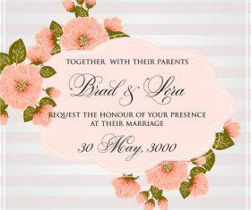 Congratulations wedding invitation card vector
