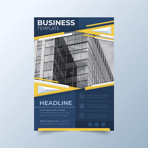 Corp promote business flyers vector
