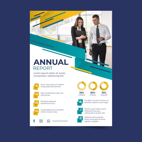 Corporate business flyers vector