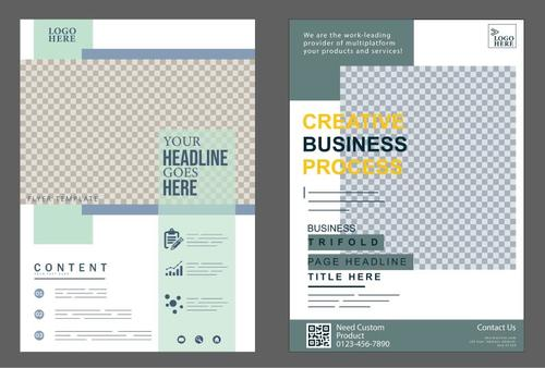 Corporate flyer cover templates vector