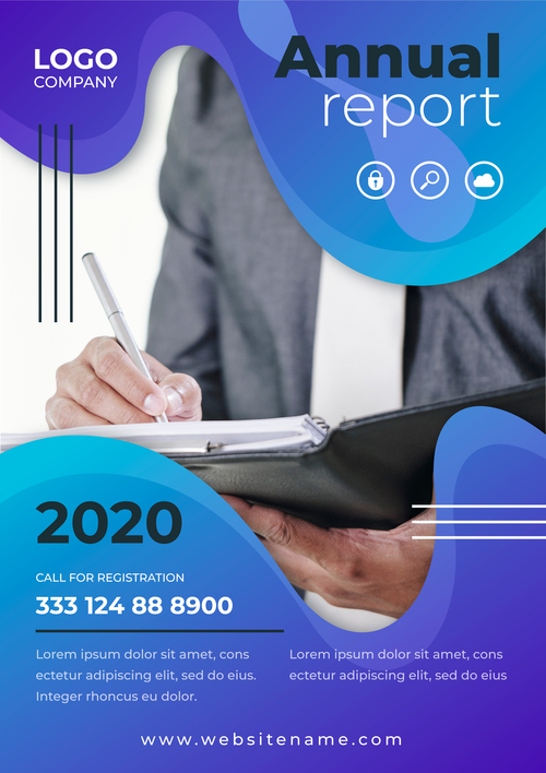 Corporate marketing business flyers vector