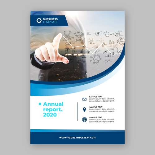 Corporate strategy business flyers vector