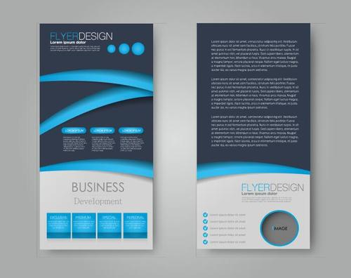 Cover business ad template vector
