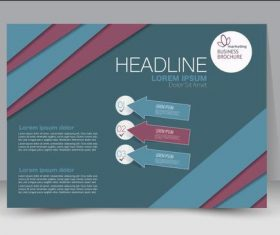 Cover business brochure design vector