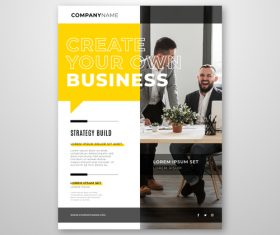 Create your own business flyers vector