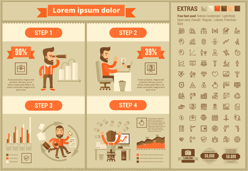 Creative Business infographic elements vector