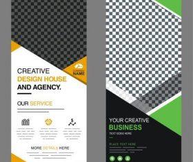 Creative design standee banner vector