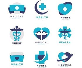 Creative nurse logo templates vector