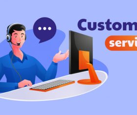 Customer service illustration vector