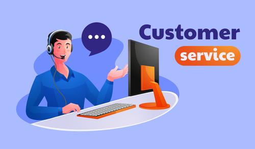 Customer service illustration vector