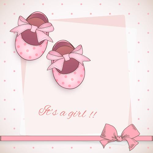 Cute invitation cards vector