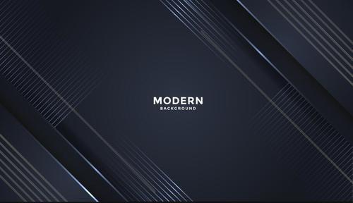 Dark blue 3d geometric vector background design