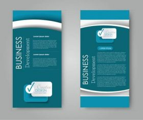 Dark blue background business advertising template vector