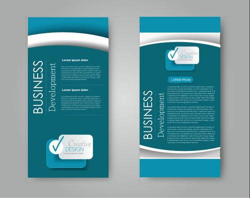 Dark blue background business advertising template vector