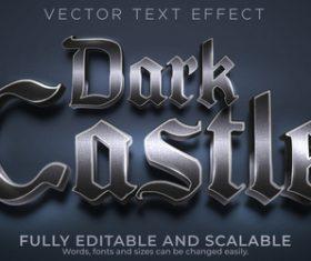 Dark castle editable font 3d vector