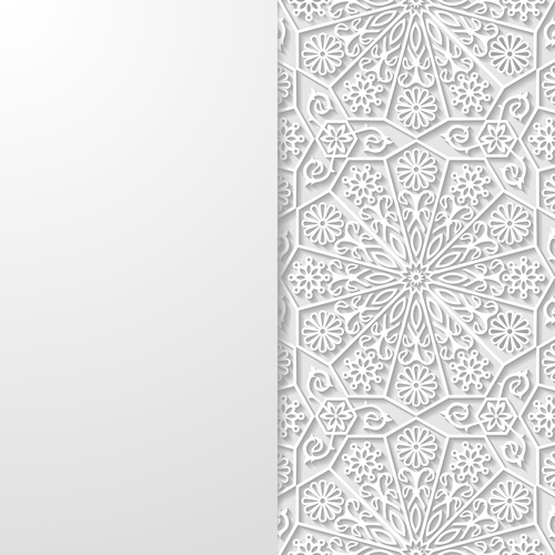 Decorative art paper cut flower vector