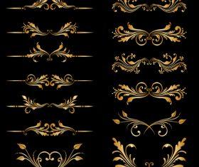 Decorative pattern element vector