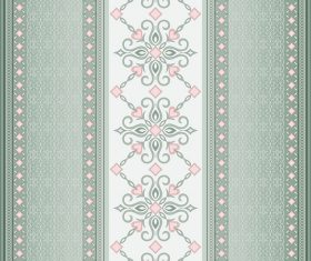 Decorative seamless border on green background vector