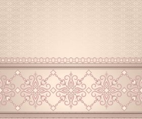 Decorative seamless border on light beige background vector