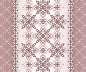 Decorative seamless white brown border on beige brown background vector