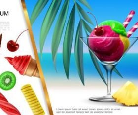 Delicious cold drink flyer vector