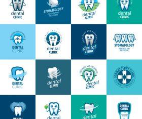 Dental clinic icon collection vector