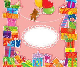 Design beautiful birthday card vector