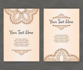 Design beautiful company business card vector