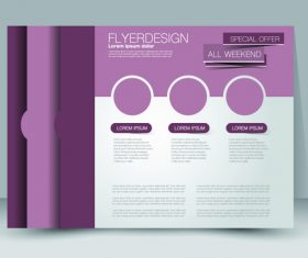 Design business advertisement template vector