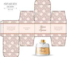 Design perfume packaging vector