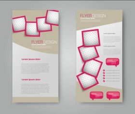 Design red border frame business advertising template vector