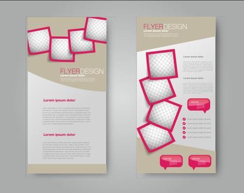 Design red border frame business advertising template vector