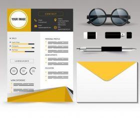 Design resume template vector