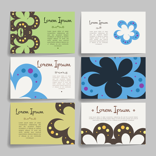 Design set of company business cards vector