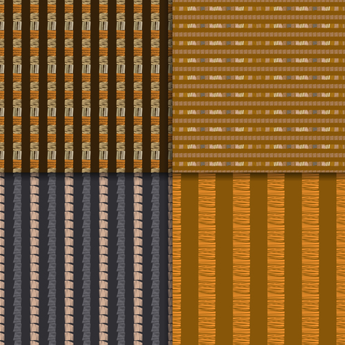 Different ethnic style seamless patterns vector