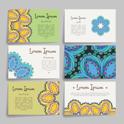 Different pattern style company business card vector
