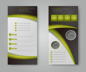 Different style geometric business advertising templates vector