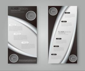 Different style simple business advertising templates vector