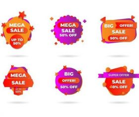 Discount sticker vector