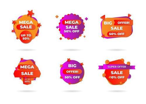 Discount sticker vector